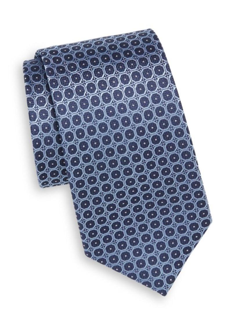 Yves Saint Laurent Circle Dot Silk Tie