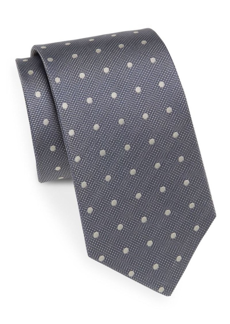 Yves Saint Laurent Dotted Silk Tie