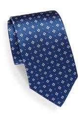Yves Saint Laurent Floral Printed Italian Silk Tie