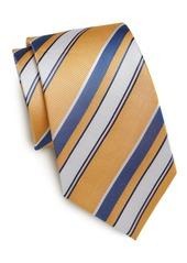 Yves Saint Laurent Multistriped Silk Tie