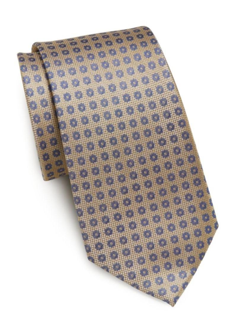 Yves Saint Laurent Neat Floral-Print Silk Tie