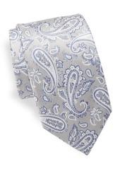 Yves Saint Laurent Paisley Silk Tie