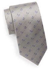 Yves Saint Laurent Paisley Teardrop Silk Tie