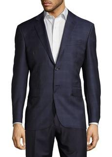 Yves Saint Laurent Plaid Long-Sleeve Sportcoat