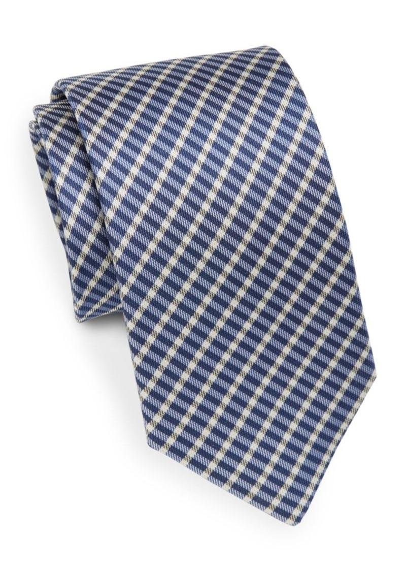 Yves Saint Laurent Plaid Silk Tie