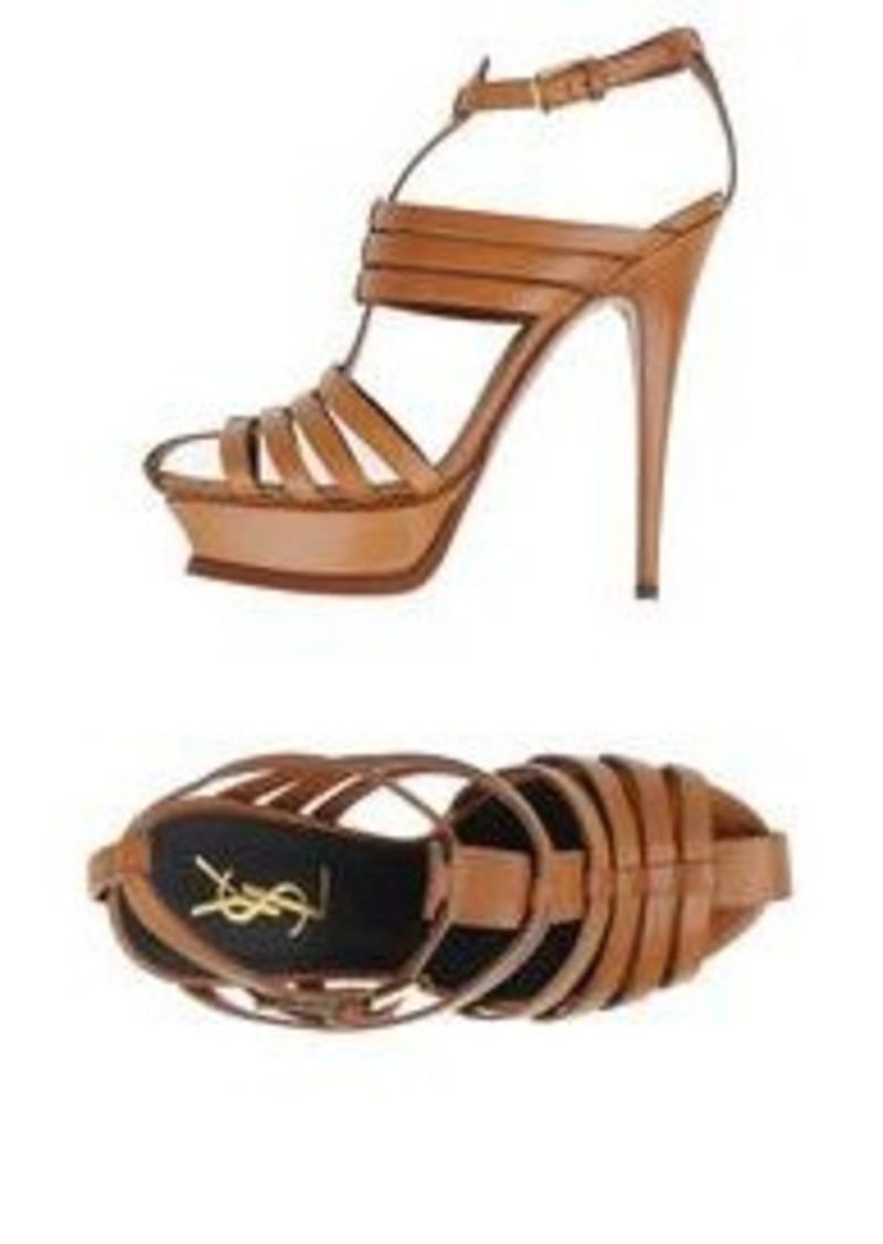 saint laurent yves saint laurent rive gauche sandals shoes rh shopittome com