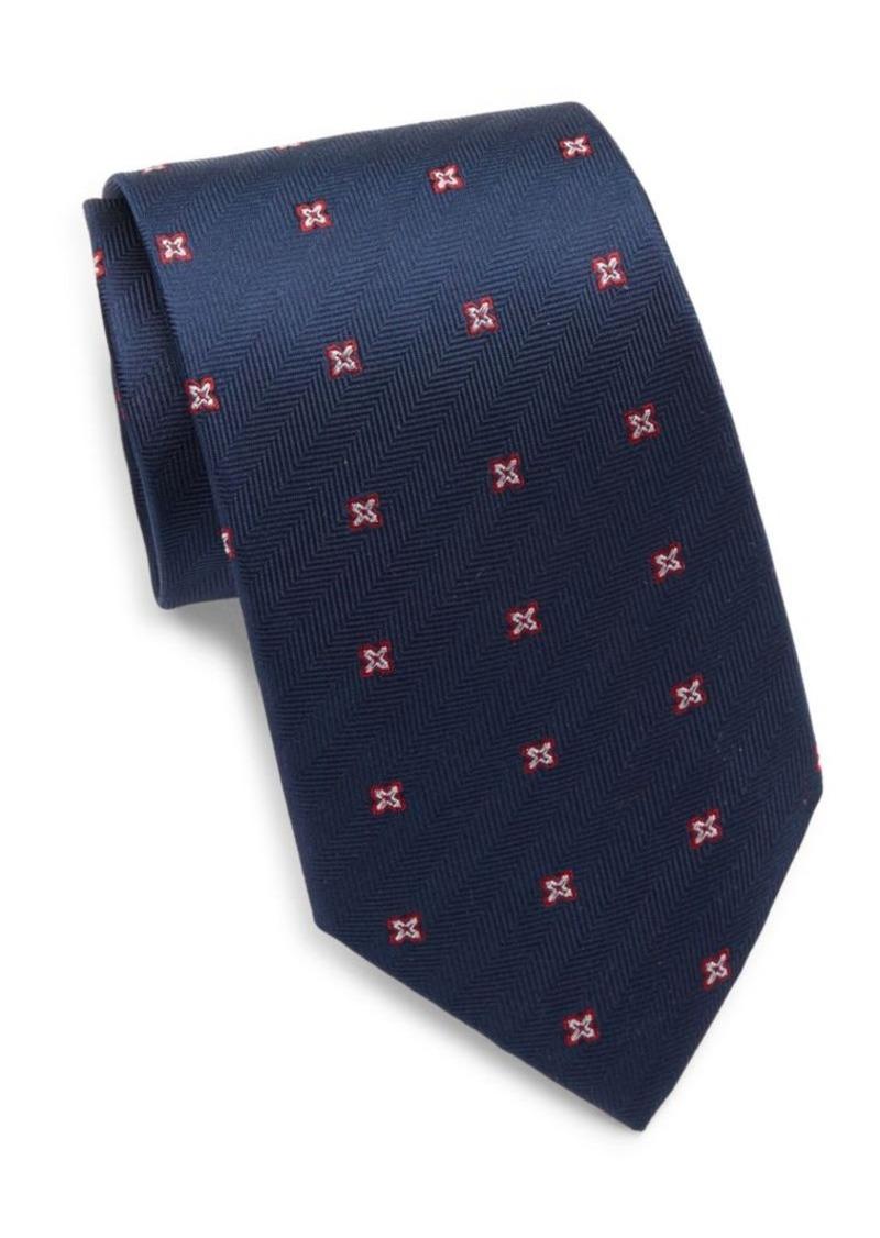Yves Saint Laurent Silk Embroidered Tie