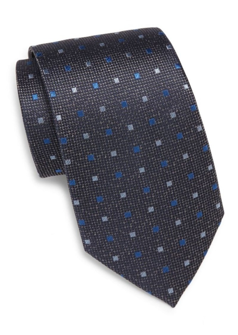 Yves Saint Laurent Square Pattern Silk Tie