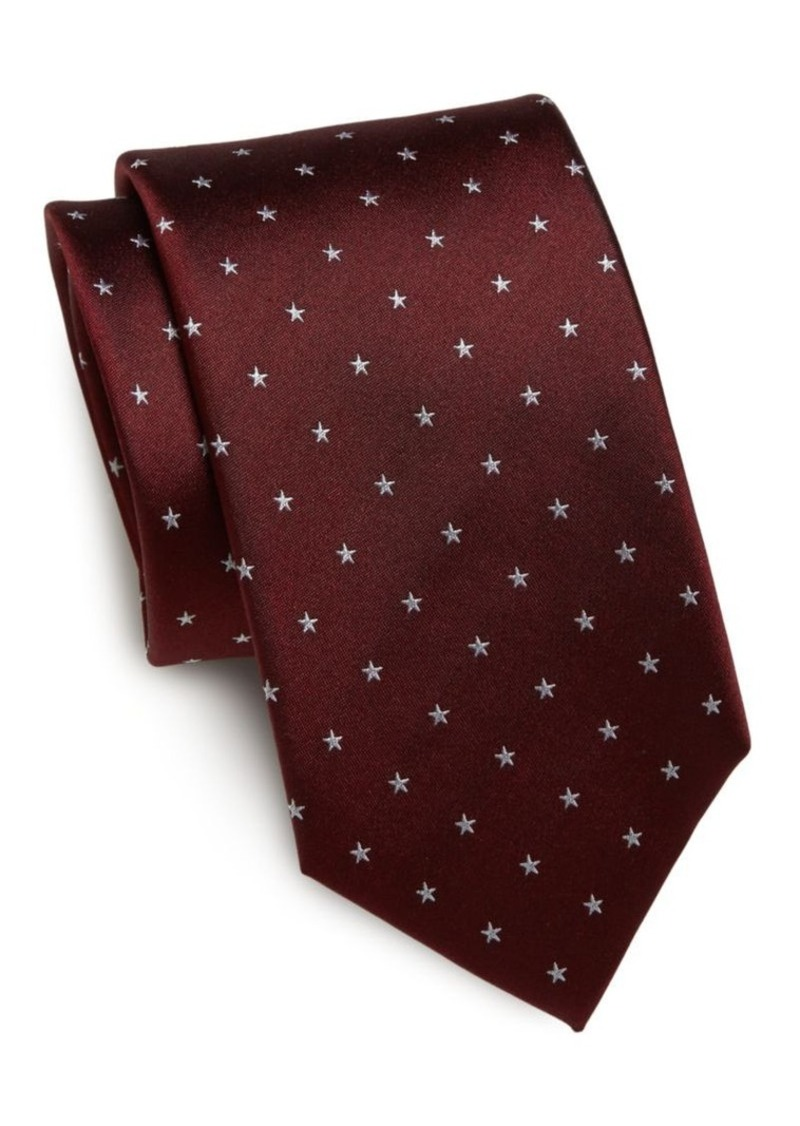Yves Saint Laurent Star-Print Silk Tie