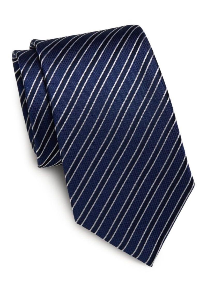 Yves Saint Laurent Striped Silk Tie