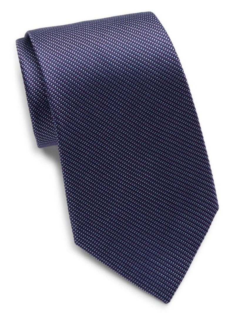 Yves Saint Laurent Woven Silk Tie