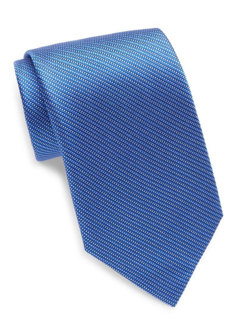 Yves Saint Laurent Woven Silk Tie/Blue