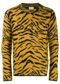 Yves Saint Laurent zebra intarsia sweater
