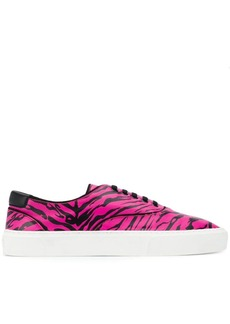 Yves Saint Laurent zebra print lace-up sneakers