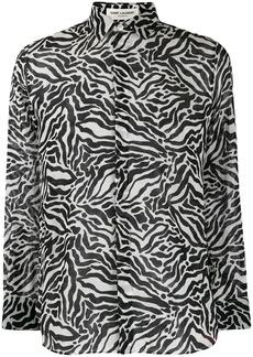 Yves Saint Laurent zebra-print long-sleeved shirt