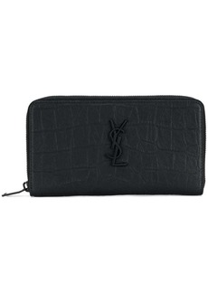 Yves Saint Laurent zip around wallet