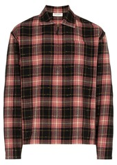 Yves Saint Laurent zip check print shirt