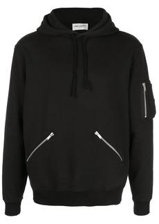 Yves Saint Laurent zip detail hoodie