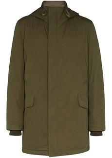 Yves Salomon Bachette hooded down coat