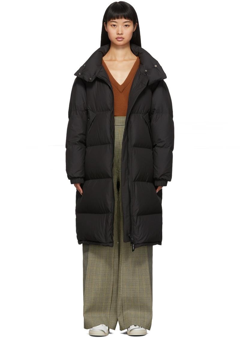 Yves Salomon Black Down Technical Coat