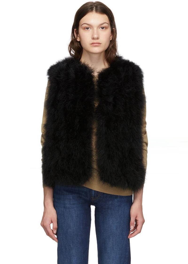 Yves Salomon Black Feather Vest