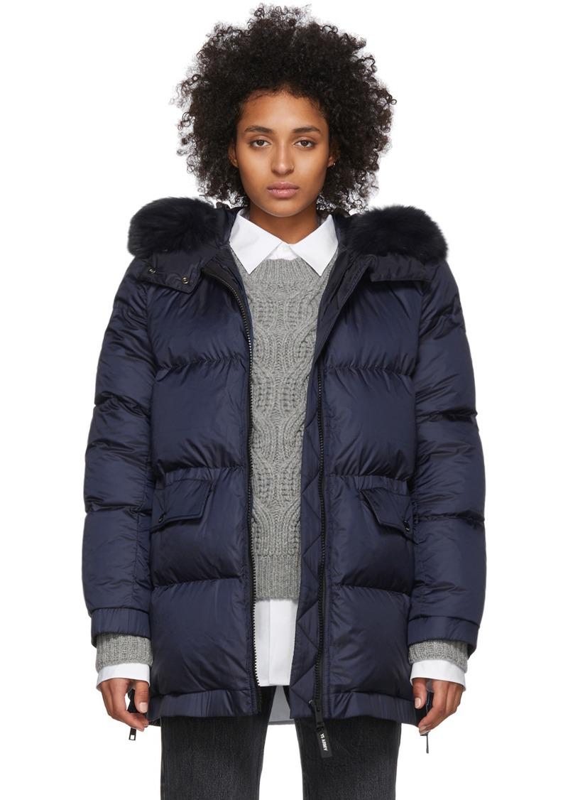Yves Salomon Blue Down Doudoune Jacket