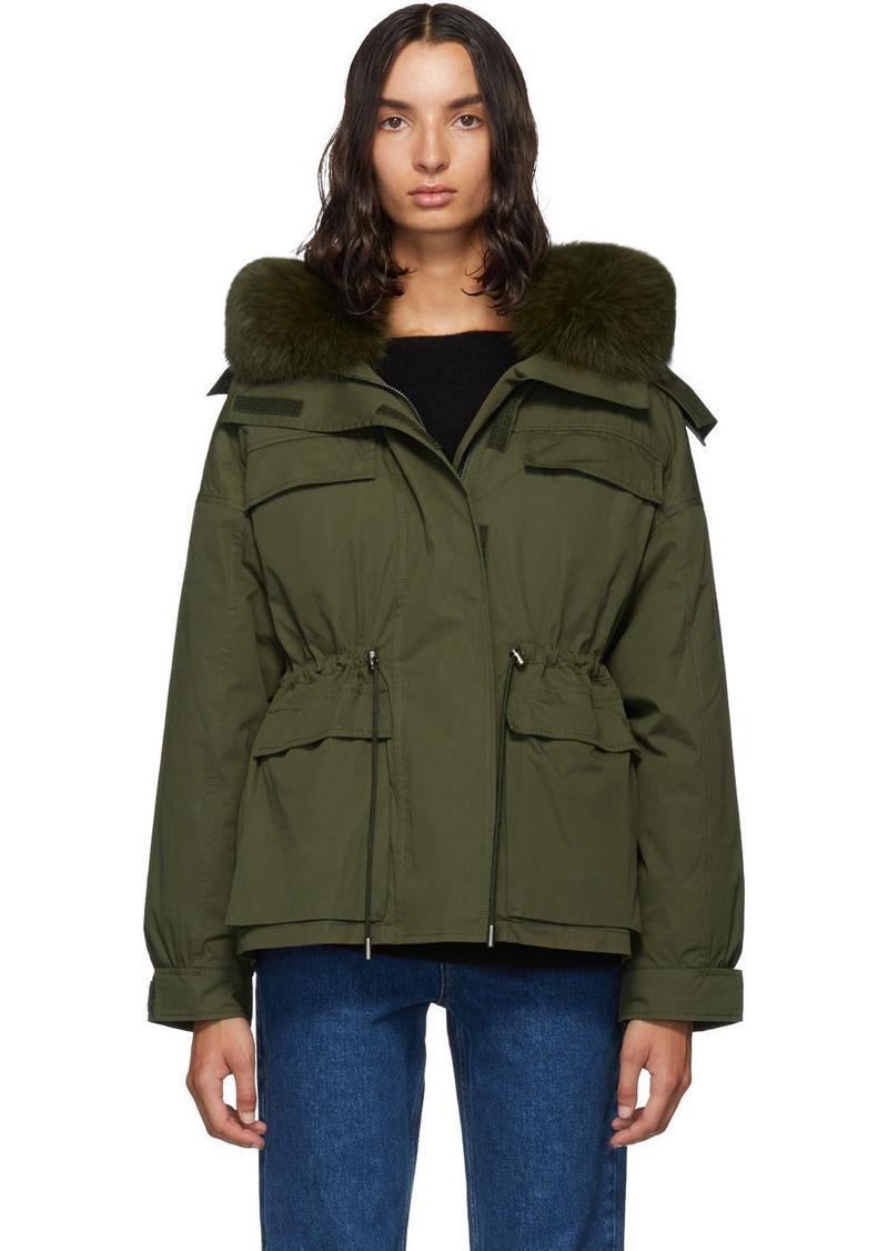 Yves Salomon Green Down Bachette Jacket