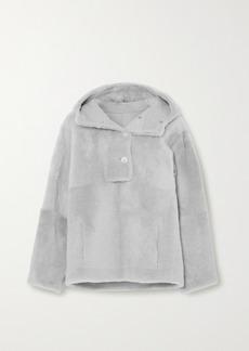 Yves Salomon Lacon Hooded Shearling Jacket