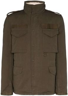 Yves Salomon Merino wool-lined jacket