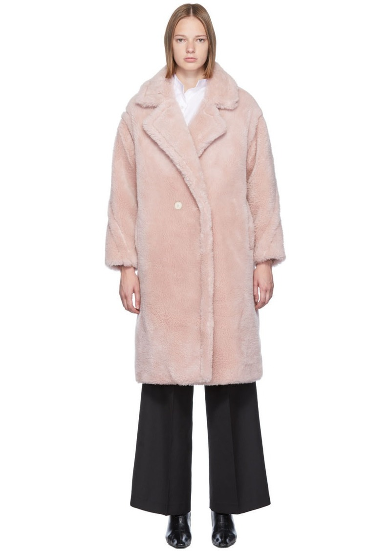 Yves Salomon Pink Woven Wool Coat