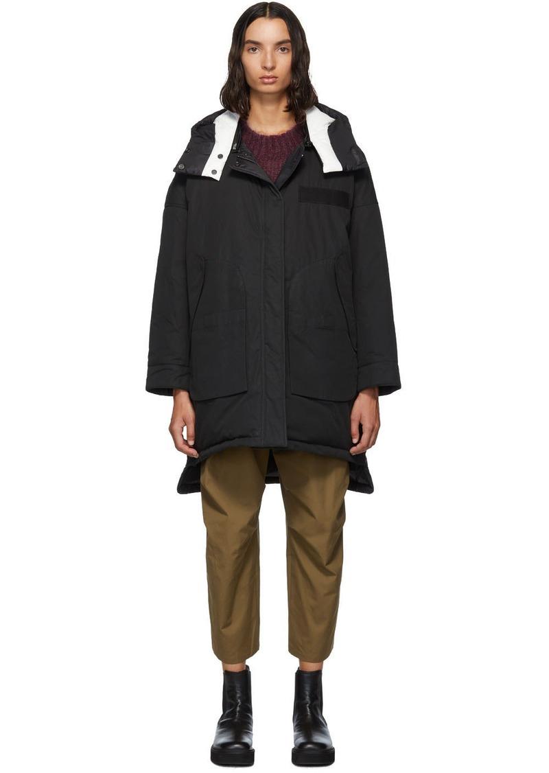 Yves Salomon Reversible Black Down Doudoune Jacket