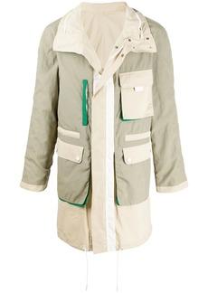 Yves Salomon reversible colour-block jacket