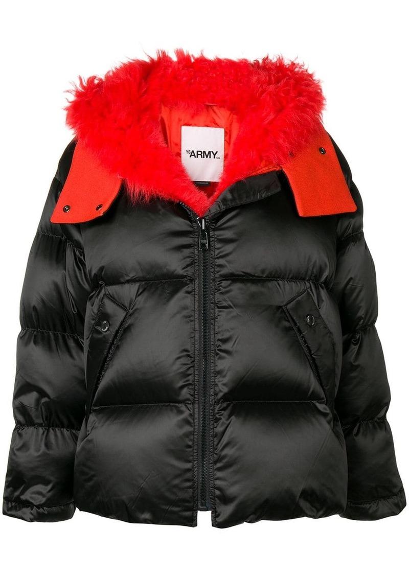 Yves Salomon short puffer jacket