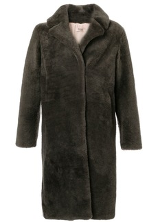 Yves Salomon single-breasted faux fur coat