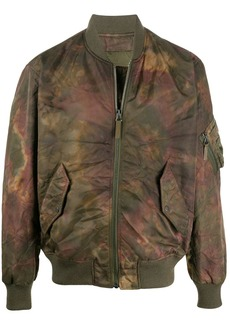 Yves Salomon tie dye print bomber jacket