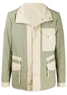 Yves Salomon two-tone drawstring jacket