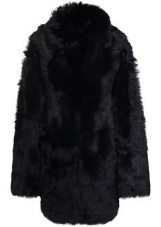 Yves Salomon Woman Reversible Shearling Coat Black
