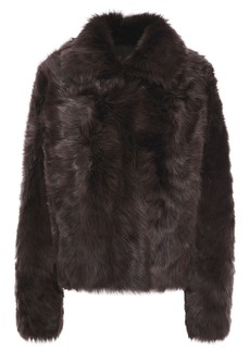 Yves Salomon Woman Reversible Shearling Jacket Claret
