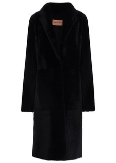 Yves Salomon Woman Shearling Coat Black