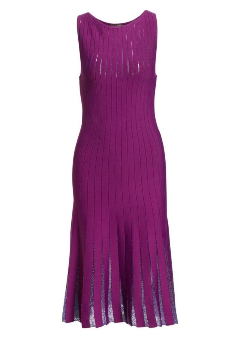 Zac Posen Beaded Detail Sleeveless Knit Dress