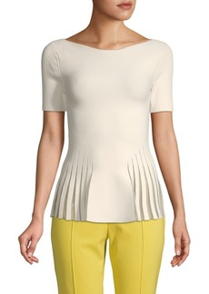 Zac Posen Boatneck Stretch Knit Top