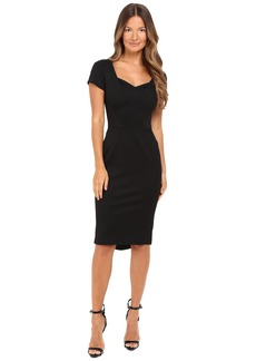 Zac Posen Bondage Jersey Cap Sleeve Dress