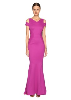 Zac Posen Bondage Jersey Cold Shoulder Gown