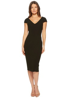Zac Posen Bonded Crepe Cap Sleeve Dress