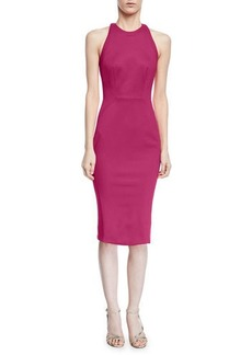 Zac Posen Bonded Jersey Sheath Cocktail Dress