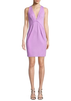 Zac Posen Clarise Deep V-Neck Sleeveless Cocktail Dress