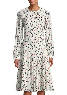 Zac Posen Crepe Flared Midi Dress
