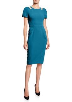 Zac Posen Cutout-Neck Sheath Dress