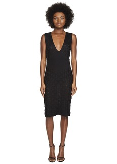 Zac Posen Dandelion Lace Knit Sleeveless Dress