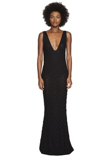 Zac Posen Dandelion Lace Knit Sleeveless Maxi Dress